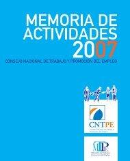 Memoria de Actividades 2007 - Ministerio del Trabajo y Promoción ...
