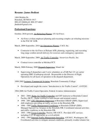 Resume: James Bedient - AAVSO