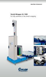 Stretch Wrapper GL 1000 For fully automatic in-line stretch wrapping
