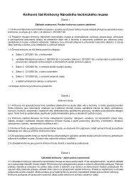 Knihovní řád Knihovny Národního technického muzea