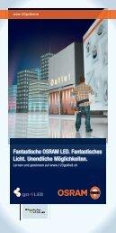 Fantastische OSRAM LED. Fantastisches Licht. Unendliche ...