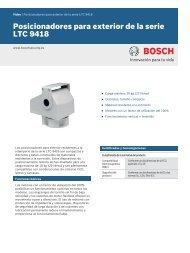 Posicionadores para exterior de la serie LTC 9418 - Bosch Security ...