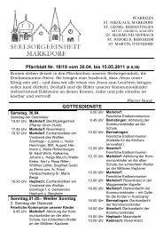 Pfarrblatt Nr. 18/19 vom 30.04. bis 15.05.2011 (€ 0,30 ...