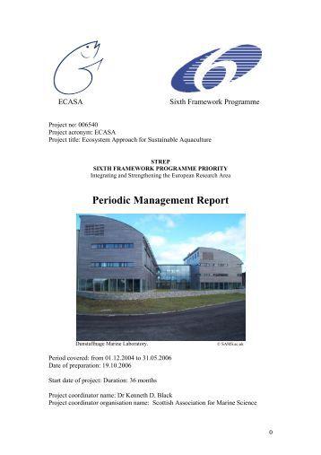 Periodic Management Report - ecasa
