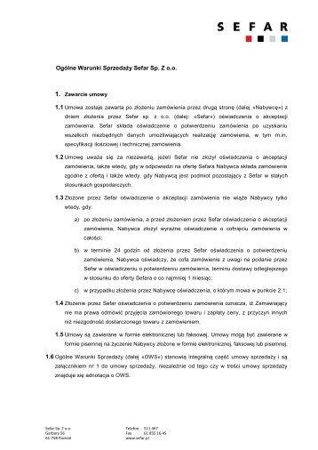 Download (PDF, 308 kb) - SEFAR