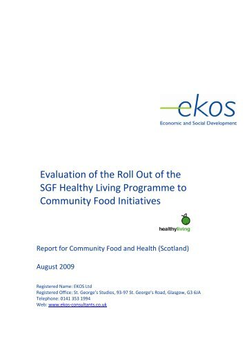 Scottish Grocers Federation Healthy Living Pilot Evaluation
