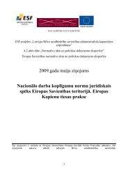 Nacionālo darba koplīgumu normu juridiskais spēks Eiropas ...