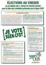 election CNESER 2011 enseignants-chercheurs