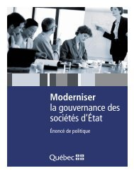 Moderniser la gouvernance des sociétés d'État - Finances