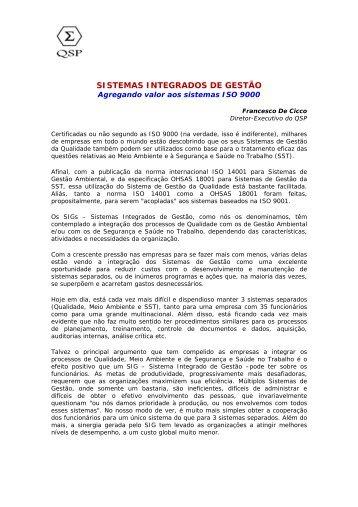 SISTEMAS INTEGRADOS DE GESTO - Senac São Paulo