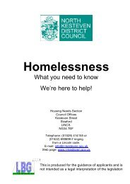 Homelessness - North Kesteven District Council