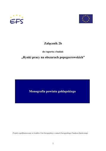 Monografia powiatu gołdapskiego - Ministerstwo Pracy i Polityki ...