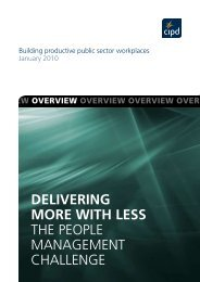 DELIVERING MORE WITH LESS The people managemenT ... - CIPD