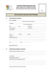 borang @ form (elective posting) pelajar luar - UKM Medical Centre ...