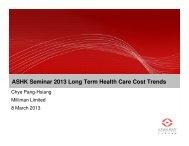 ASHK Seminar 2013 Long Term Health Care Cost Trends - Actuarial ...