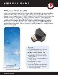 ARINC 429 MICRO QAR - L-3 Aviation Recorders