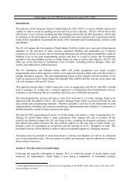 South Sudan Joint EU/MS Programming Document 2011-2013 1 ...