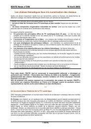 IDATE News n°256 10 Avril 2003 Les chaînes thématiques face à la ...