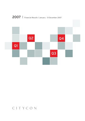 31 December 2007 (pdf) - Citycon Oyj