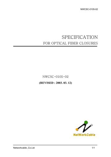 SPECIFICATION - Gfo Europe S.p.A.