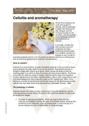 Cellulite and aromatherapy - Penny Price Aromatherapy