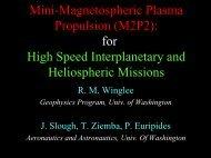 Mini-Magnetospheric Plasma Propulsion (M2P2): for High Speed ...
