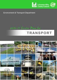Environment & Transport Department 2011 - 12 Service Plan for ...