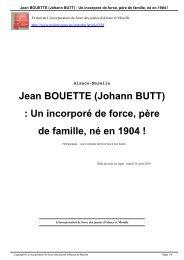 Jean BOUETTE (Johann BUTT) : Un incorporé de ... - Malgré-Nous
