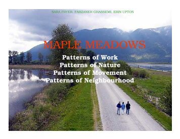 Maple Meadows - Sustainability by Design