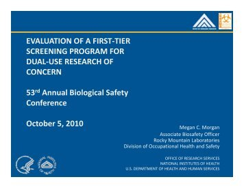 EVALUATION OF A FIRST-TIER SCREENING PROGRAM FOR ...