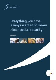 about social security - FOD Sociale Zekerheid