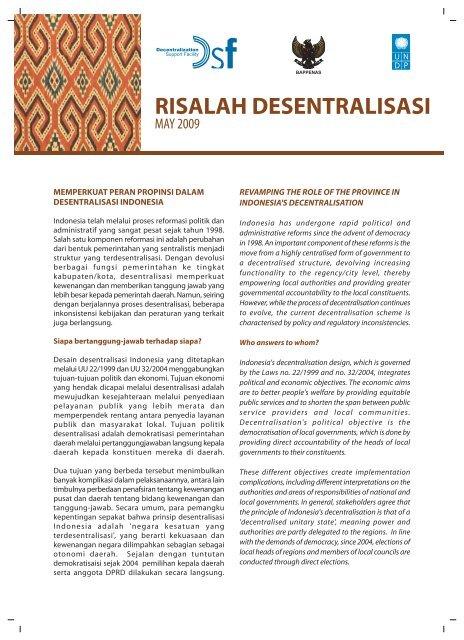 risalah desentralisasi - UNDP