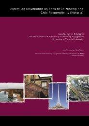 Learning to Engage: The development of University - Community ...