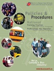 Policies & Procedures - Motor Carrier Passenger Council of Canada