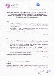Accord National du 25 octobre 2007 relatif aux ... - Syntec ingenierie