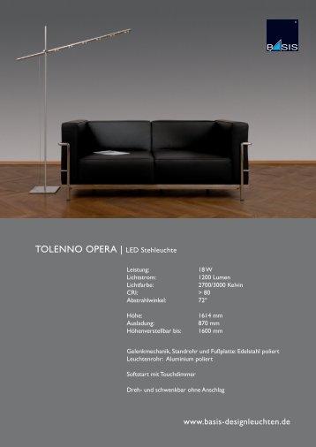 TOLENNO OPERA | LED Stehleuchte - Basis Designleuchten