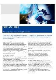 OHSAS 18001 brošiūra (pdf) - DNV Business Assurance