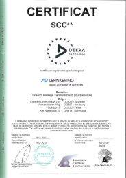 SCC Certificat - Lehnkering