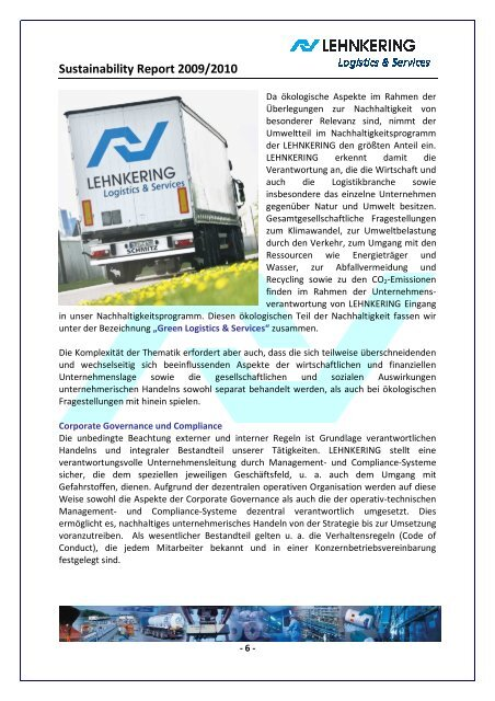 Sustainability Report 2009/2010 - Lehnkering