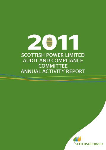 SCOTTISH POWER LIMITED auDIT anD COMPLIanCE ...