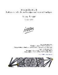 Réseau des IREM - Le portail des IREM