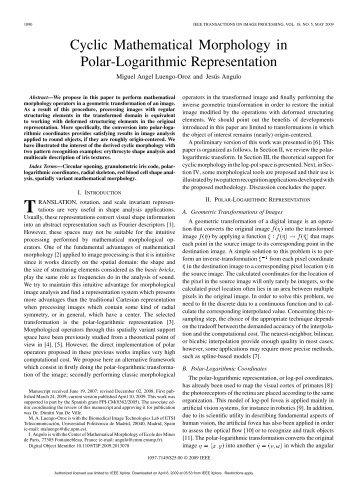 Cyclic Mathematical Morphology in Polar ... - ResearchGate