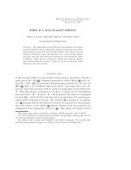 WHEN IS A FULL DUALITY STRONG? 1. Introduction A full (natural ...