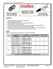 Application Tooling Specification Sheet