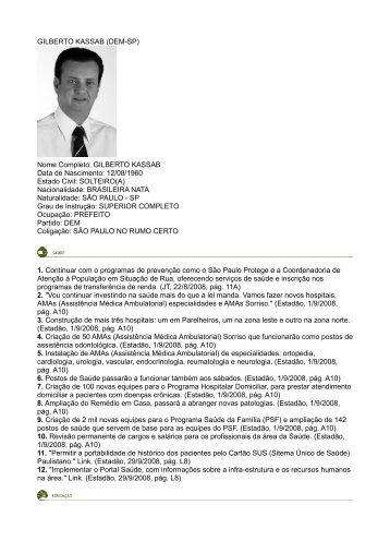 Eu Prometo - Gilberto Kassab - Rede Nossa São Paulo