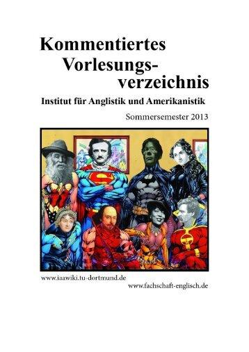Institut für Anglistik und Amerikanistik - Iaawiki - TU Dortmund