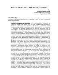 Hacia una política de Educación Superior en Colombia