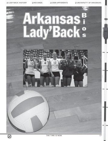 lady'back history records 2006 opponents university of arkansas the ...