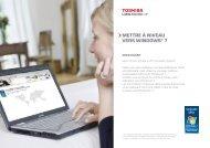 Mettre à niveau vers WindoWs® 7 - Toshiba