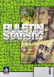buletin statistic de preţuri prices statistical bulletin - Institutul National ...